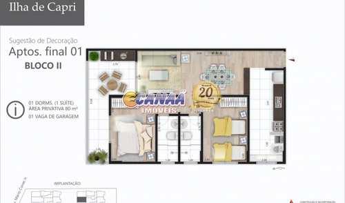 Apartamento, código 7635 em Mongaguá, bairro Jardim Praia Grande