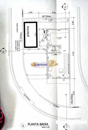 Sobrado, código 8034 em Mongaguá, bairro Balneário Plataforma