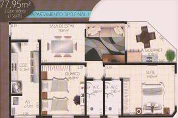 Apartamento, código 2602 em Cubatão, bairro Jardim Casqueiro