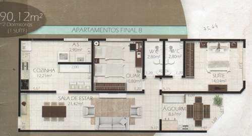 Apartamento, código 24682 em Cubatão, bairro Jardim Casqueiro