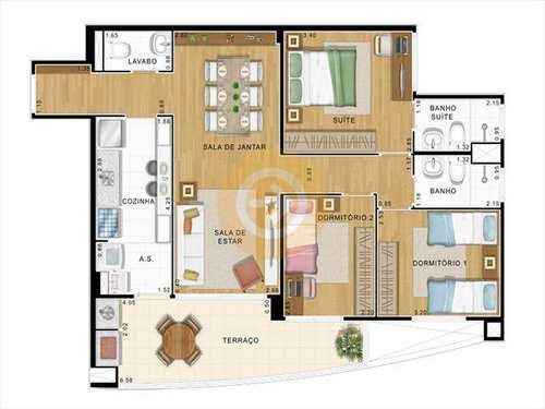 Apartamento, código 6441 em Bauru, bairro Vila Cardia