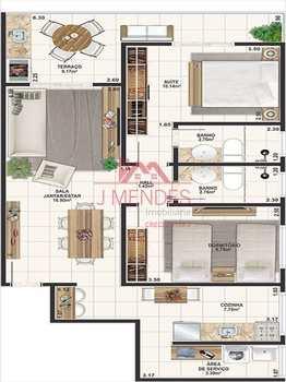 Apartamento, código 472 em Praia Grande, bairro Tupi