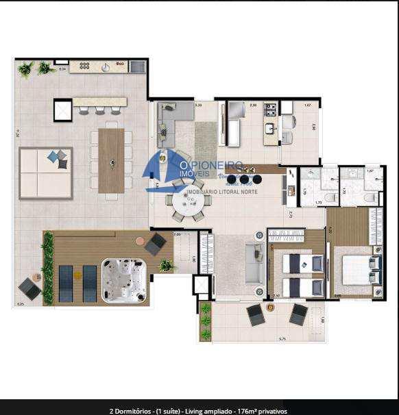 Apartamento em Bertioga, bairro Centro