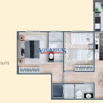 Apartamento em Praia Grande, bairro Mirim