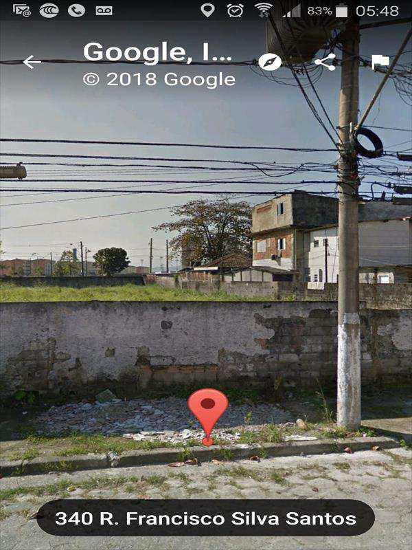 Terreno em São Vicente, no bairro Jardim Guassu
