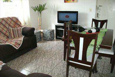 Apartamento, código 701500 em São Vicente, bairro Catiapoa