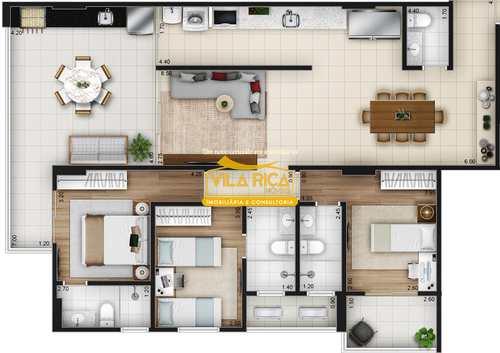 Apartamento, código 376675 em Praia Grande, bairro Canto do Forte