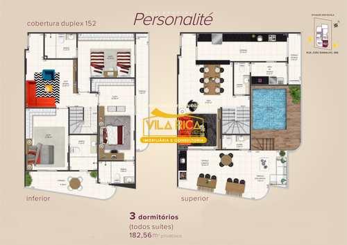 Apartamento, código 376810 em Praia Grande, bairro Aviação