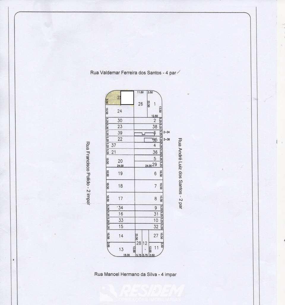 Terreno em Bauru, no bairro Jardim Nicéia
