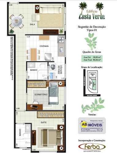 Apartamento, código 2865 em São Vicente, bairro Jardim Independência