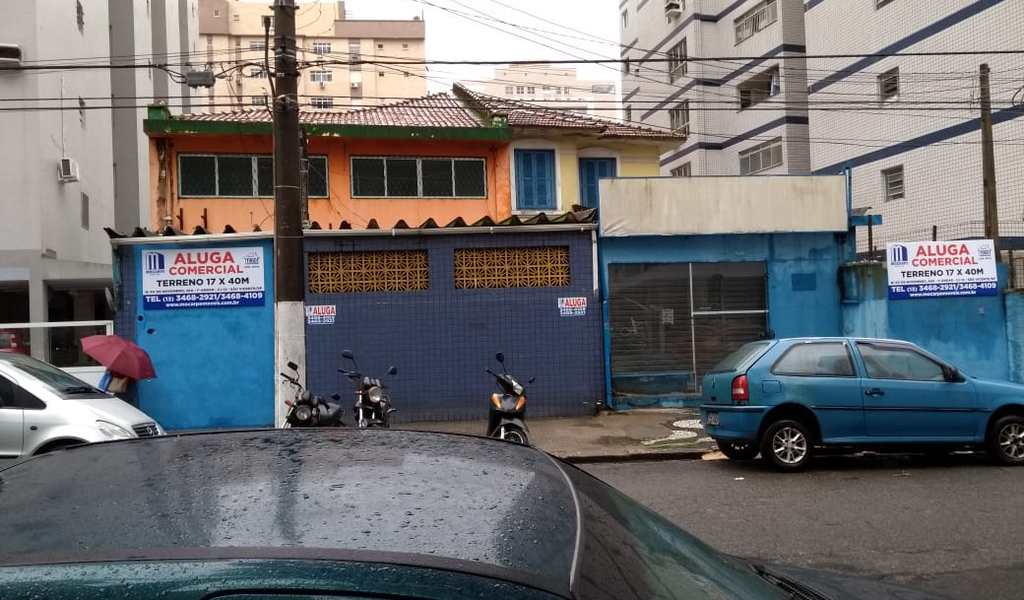 Terreno Comercial em Santos, bairro Gonzaga