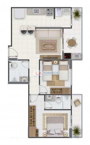 Apartamento, código 12091 em Praia Grande, bairro Aviação