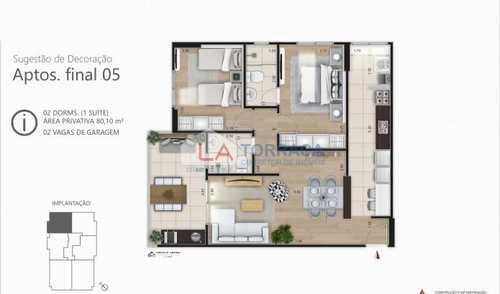 Apartamento, código 12138 em Praia Grande, bairro Caiçara