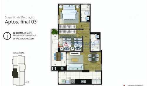 Apartamento, código 12142 em Praia Grande, bairro Canto do Forte