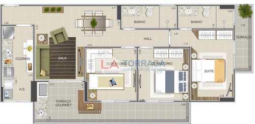 Apartamento, código 12272 em Praia Grande, bairro Ocian