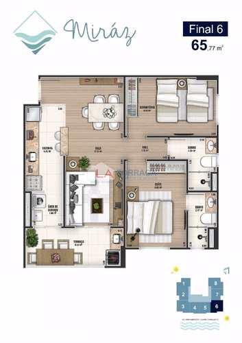Apartamento, código 12859 em Praia Grande, bairro Caiçara