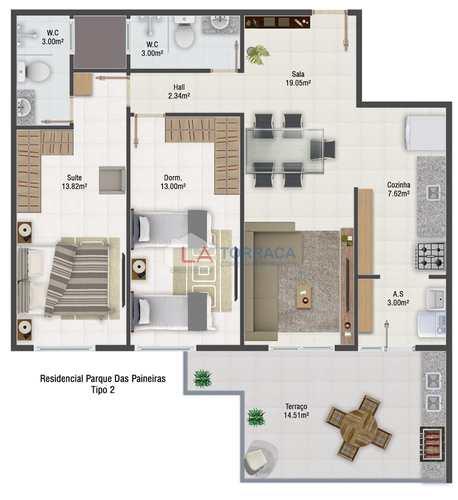 Apartamento, código 12966 em Praia Grande, bairro Maracanã