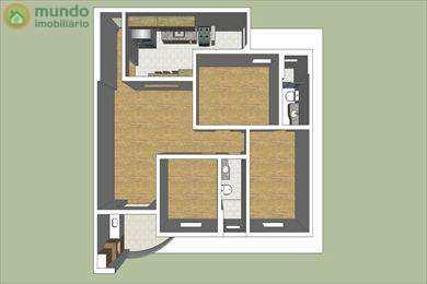 Apartamento, código 3249 em Taubaté, bairro Vila São Carlos