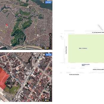 Terreno Comercial em Santos, bairro Areia Branca