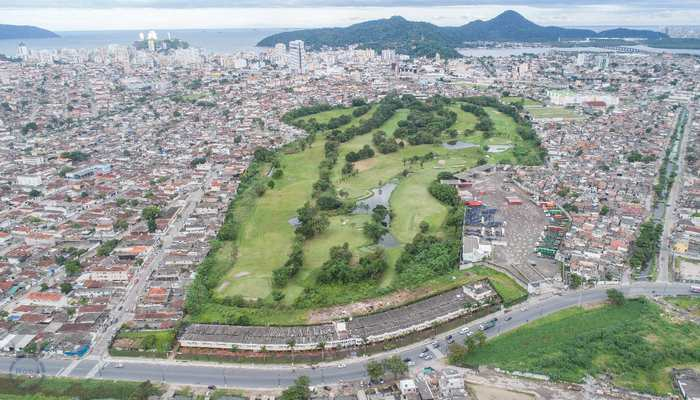 Terreno Comercial em São Vicente, bairro Catiapoa