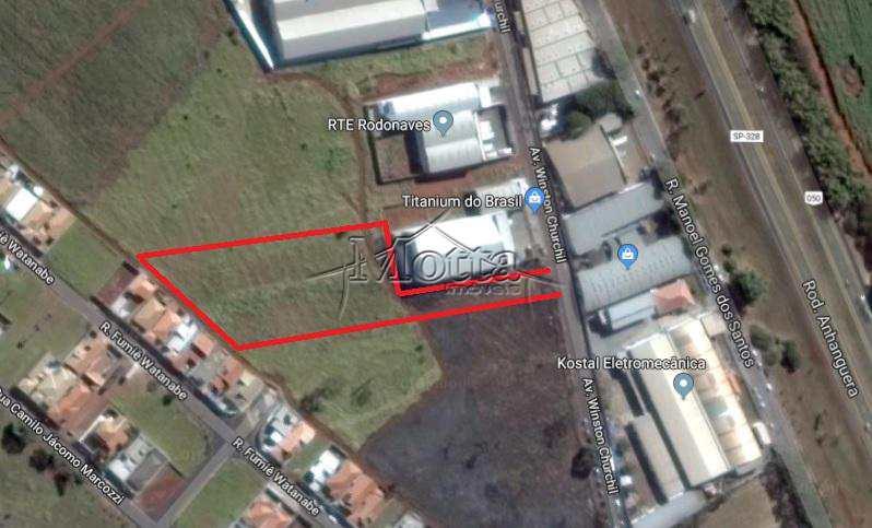 Terreno Comercial em Cravinhos, bairro Distrito Industrial