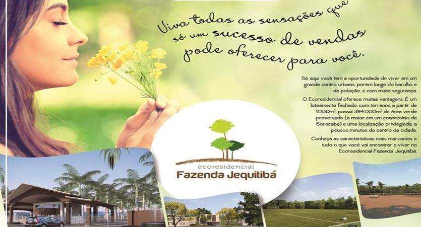 Condomínio em Sorocaba, no bairro Ecoresidencial Fazenda Juquitibá