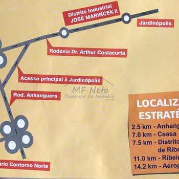 Área Comercial em Jardinópolis, bairro Distrito Industrial José Marinceck II