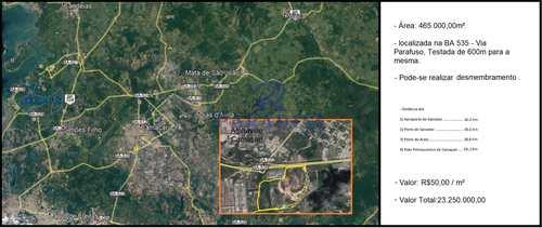 Área Industrial, código 68424 em Camaçari, bairro Polo Petroquímico