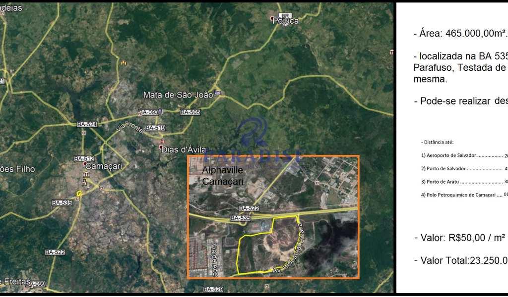 Área Industrial em Camaçari, bairro Polo Petroquímico