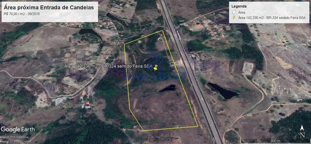 Área Industrial em Candeias, no bairro Distrito Industrial