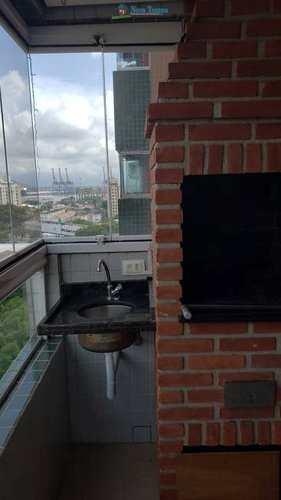 Apartamento, código 11399 em Santos, bairro Aparecida