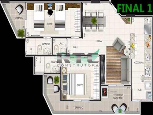 Apartamento, código 5 em Praia Grande, bairro Caiçara