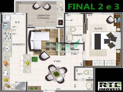 Apartamento, código 7 em Praia Grande, bairro Caiçara
