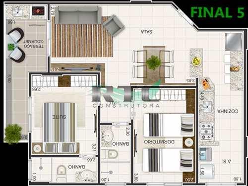 Apartamento, código 9 em Praia Grande, bairro Caiçara