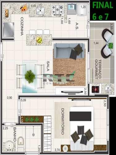 Apartamento, código 10 em Praia Grande, bairro Caiçara