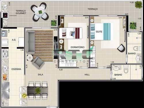 Apartamento, código 16 em Praia Grande, bairro Caiçara