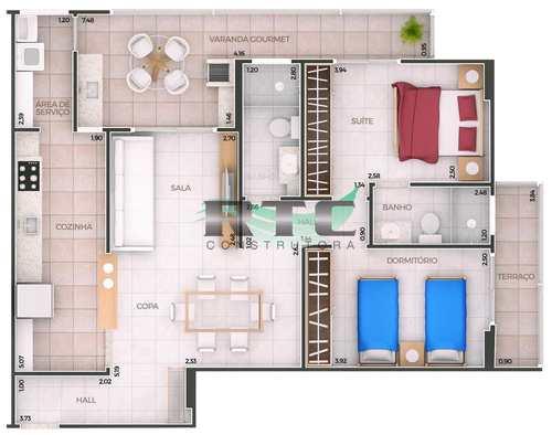 Apartamento, código 39 em Praia Grande, bairro Canto do Forte