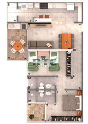 Apartamento, código 30 em Praia Grande, bairro Caiçara