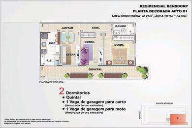 Apartamento, código 2546 em São Vicente, bairro Cidade Naútica