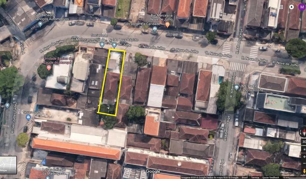 Área em Santos, bairro Marapé
