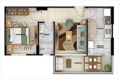 Apartamento, código 2132 em Santos, bairro Ponta da Praia