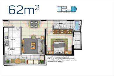 Apartamento, código 2133 em Santos, bairro Ponta da Praia