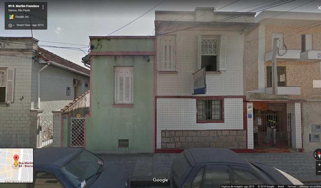 Terreno em Santos, bairro Encruzilhada