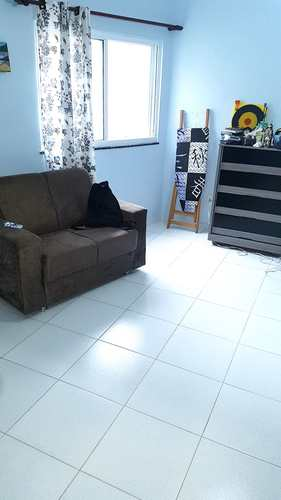 Sala Living, código 3408 em São Vicente, bairro Itararé
