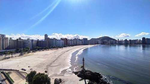 Apartamento, código 3787 em São Vicente, bairro Morro dos Barbosas
