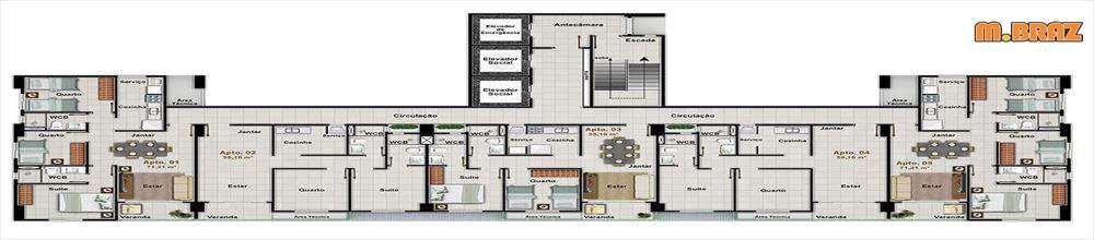 Apartamento em João Pessoa, no bairro Estados