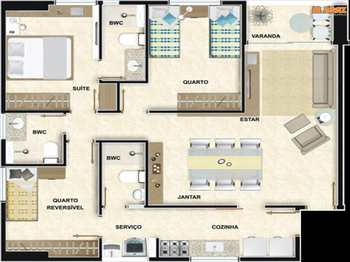 Apartamento, código 867 em João Pessoa, bairro Manaíra