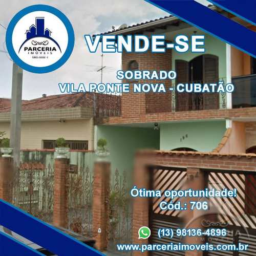Sobrado, código 706 em Cubatão, bairro Vila Ponte Nova