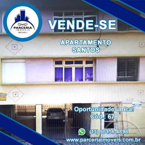 Apartamento, código 679 em Santos, bairro Encruzilhada