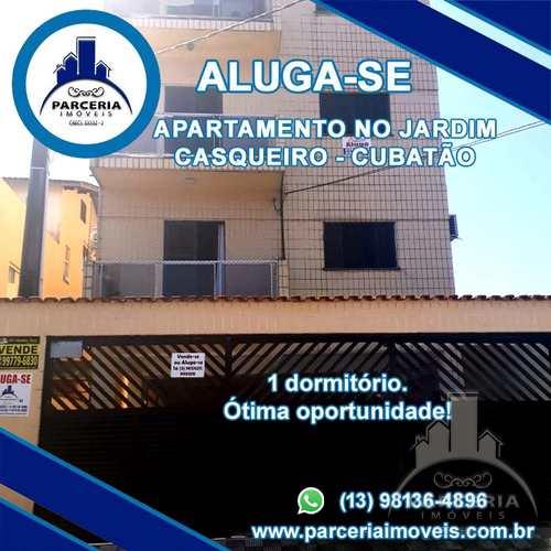 Apartamento, código 606 em Cubatão, bairro Jardim Casqueiro
